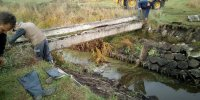 Naprawa mostu na Raciążnicy